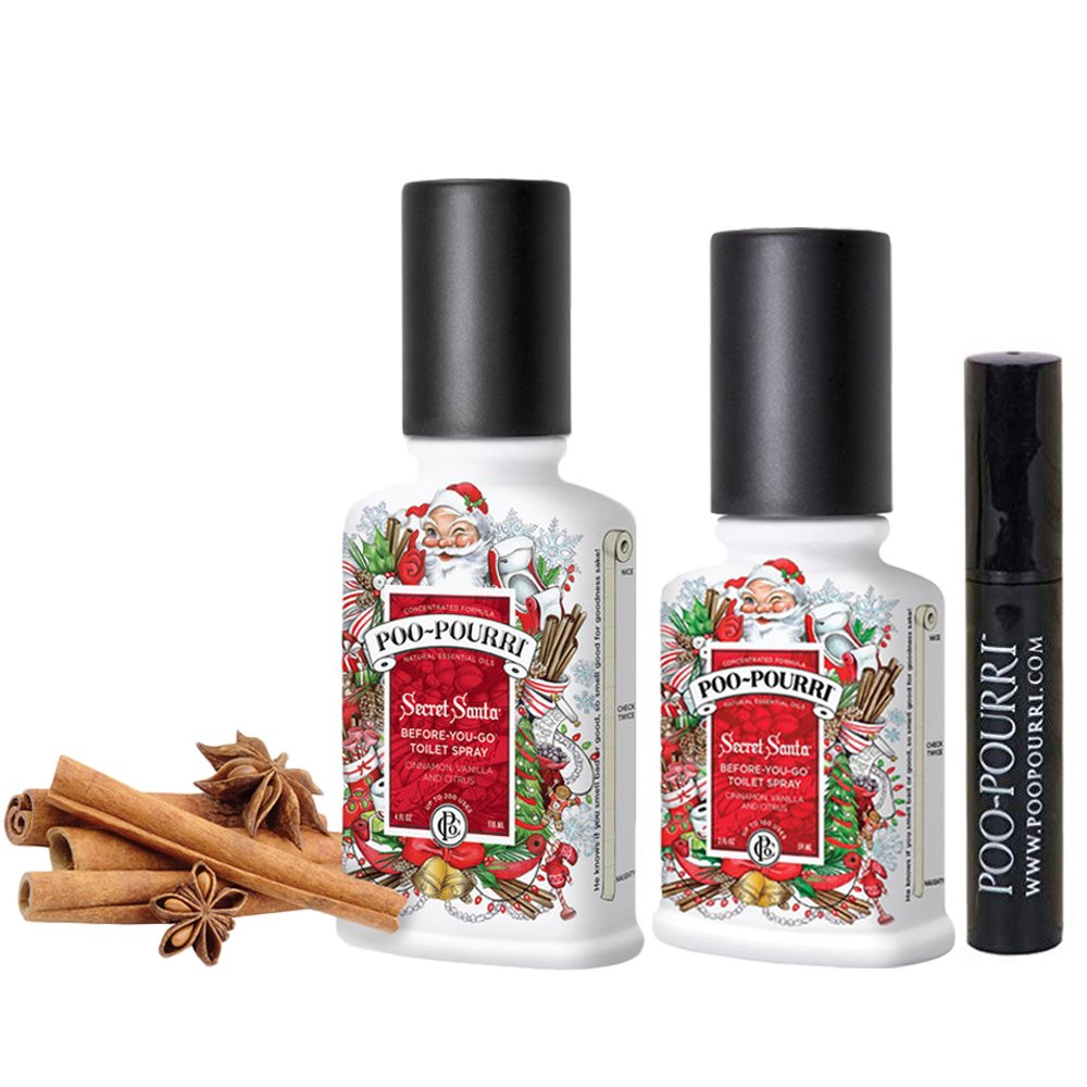 Poo-Pourri 3-piece Bathroom Deodorizer Set Secret Santa: Vanilla and Cinnamon
