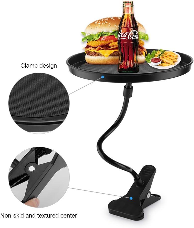 Black Detachable Car Tray for Coffee Tea Table PC Lunch Hamburger Snacks