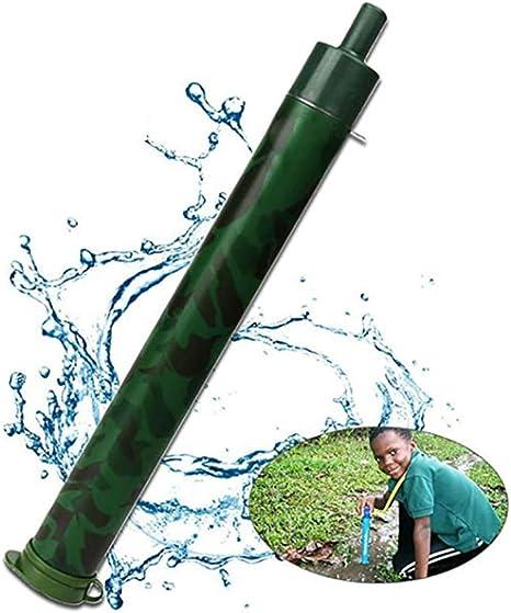 HAOZHENLONG Filtro de Agua portátil Paja Outdoor1000L Personal ...