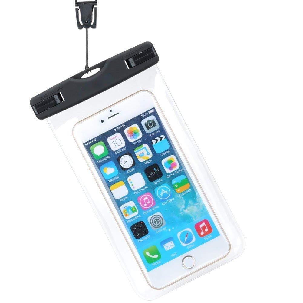 aloiness Protection Téléphone étanche Pochette Téléphone Étanche Housse Étanche Universal Water Pouch pour iPhone 7 iPhone 6 / 6S / 6S Plus, Se / 5S, Wiko, Samsung Galaxy S7, S6 Note 5 20, etc