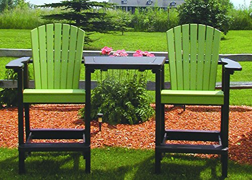 Adirondack Bar - Perfect Choice Bar Height Tete-a-Tete Set, Lime Green/Mocha