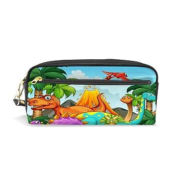 Estuche de piel con diseño de dinosaurio chenhong, bolsa ...