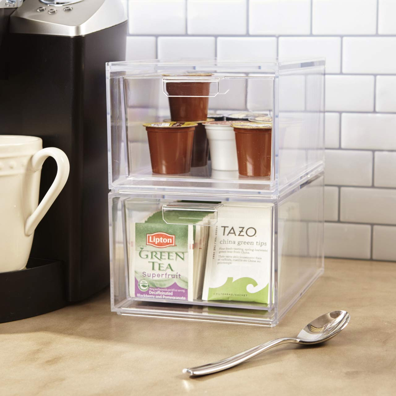 Stori Stackable Clear Plastic Coffee Pod And Tea Bag