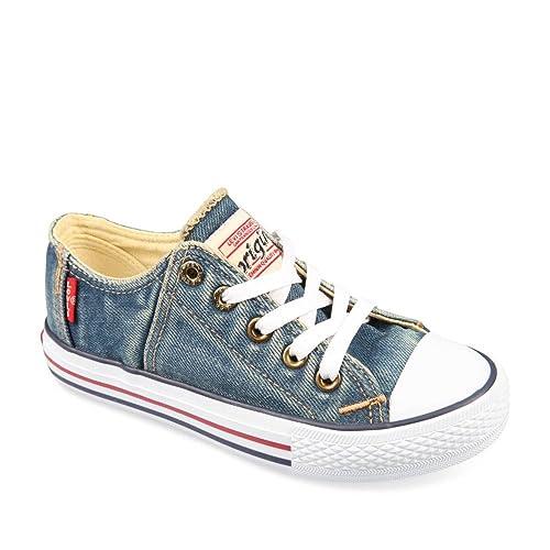 LEVIS - Zapatillas de deporte de Material Sintético para niño, azul (azul), 28: Amazon.es: Zapatos y complementos