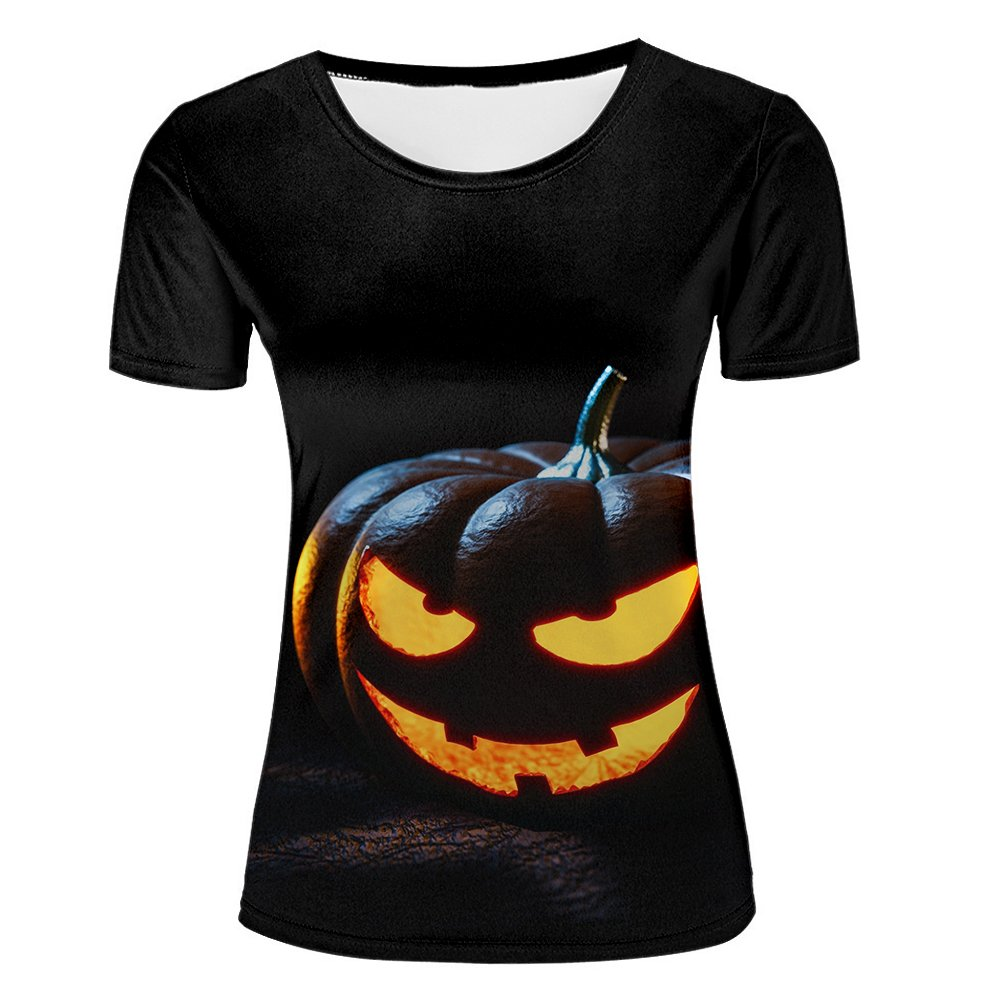 13c1866e6 Amazon.com: xijia custom Women's 3D T Shirt Halloween Fluorescence Ghost  Prank Printed Graphic Tees Top: Clothing