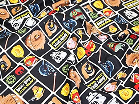 Camelot Fabrics Angry Birds Star Wars Character Blocks Quilting