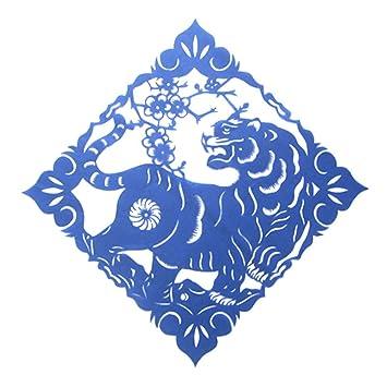 Amazon Com 3030cm Handicrafts Paper Cutting Chinese Zodiac Pattern