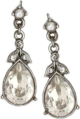 Vintage Silver Drop Earrings