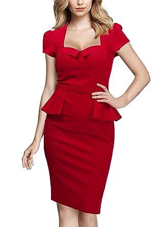 Missmay Women S Vintage Elegant Peplum Business Workwear Cocktail