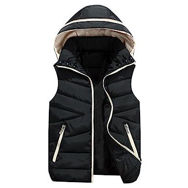 Bebé Sin mangas color liso con capucha chaleco abrigos chaqueta de algodón , Yannerr niña niño