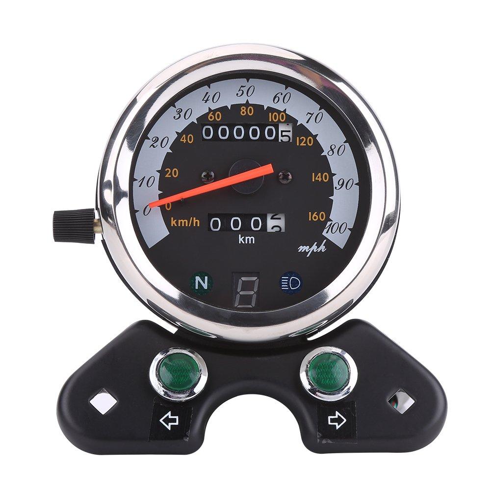 Universale Motociclo Contachilometri contagiri doppio Tachimetro Cerchio LCD Digitale Elerose
