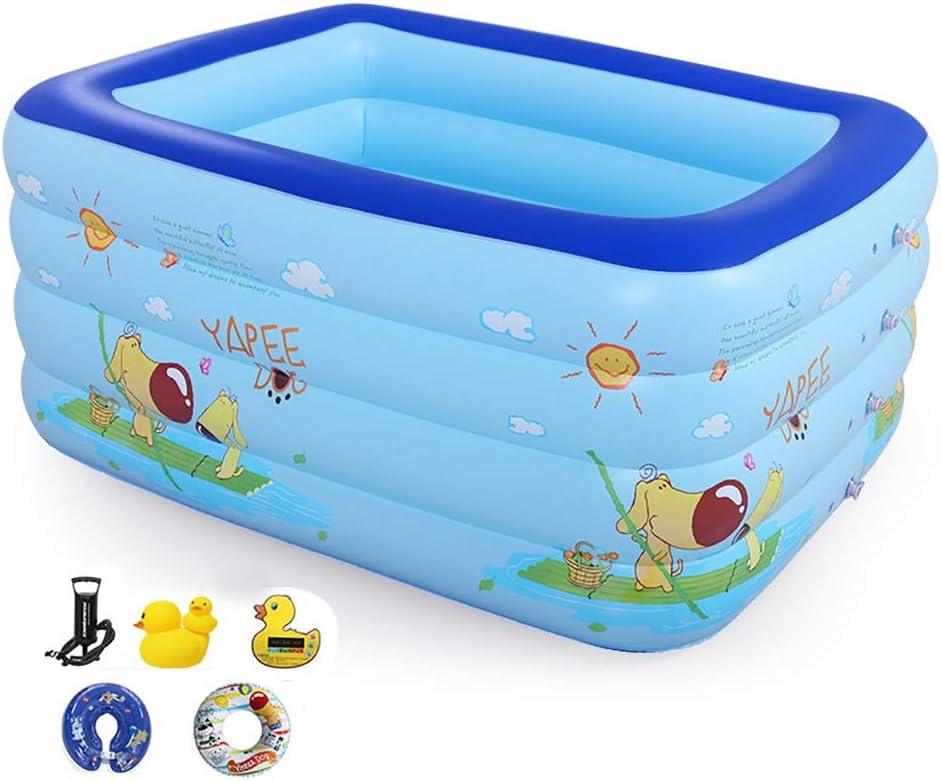 Piscina Inflable para Niños, Piscina para Niños, Piscina para Bebés, Bolas Marinas, Piscina De Bolas De Burbujas para Niños Piscina para Acuarios Azul con Bomba 120 * 102 * 80 Cm (Color :