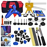 AUTOPDR 41Pcs DIY Automobile Car Body Paintless Dent Repair Removal Remover Tools Kits Lifter Puller Tabs Dent Bridge Puller Sets with Hot Glue Gun Stick Hail Slide Hammer