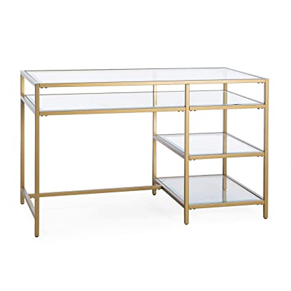 size 40 a623b 17933 Amazon.com: Gold Finish Contemporary Modern Glam Metal Glass ...