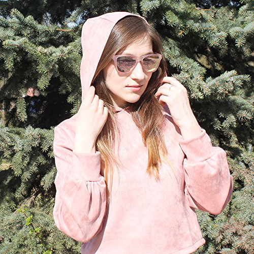de Polarizado Rosa Reflexivo Gafas Rosa Espejo Lente Sol Anteojos Retro Espejo Polarizadas Hombre Mujer Transparente pWd6Uqd