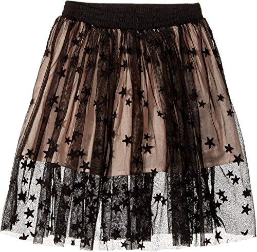 Skirt Stella Embroidered (Stella McCartney Kids Baby Girl's Amalie Star Embroidered Tulle Skirt (Toddler/Little Kids/Big Kids) Black Skirt)