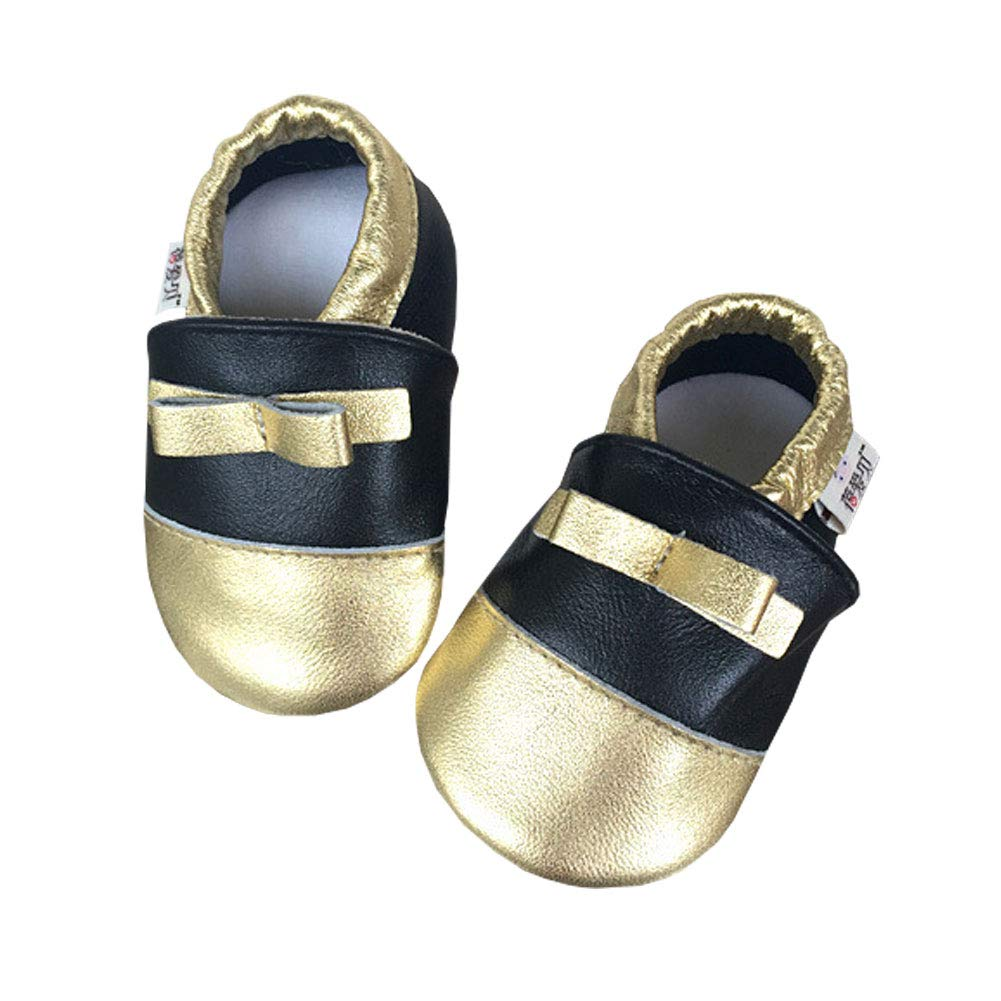 YFCH Toddler Baby Girls Boys Shoes Soft Sole Leather Crawling Moccasins Cartoon Non-Slip Infant First Walker Slippers 0-24 Months YFCH-F1491-96