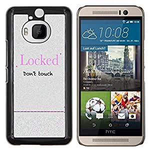 "Be-Star Único Patrón Plástico Duro Fundas Cover Cubre Hard Case Cover Para HTC One M9+ / M9 Plus (Not M9) ( Bloqueado Cita contraseña Lema muestra divertida"" )"