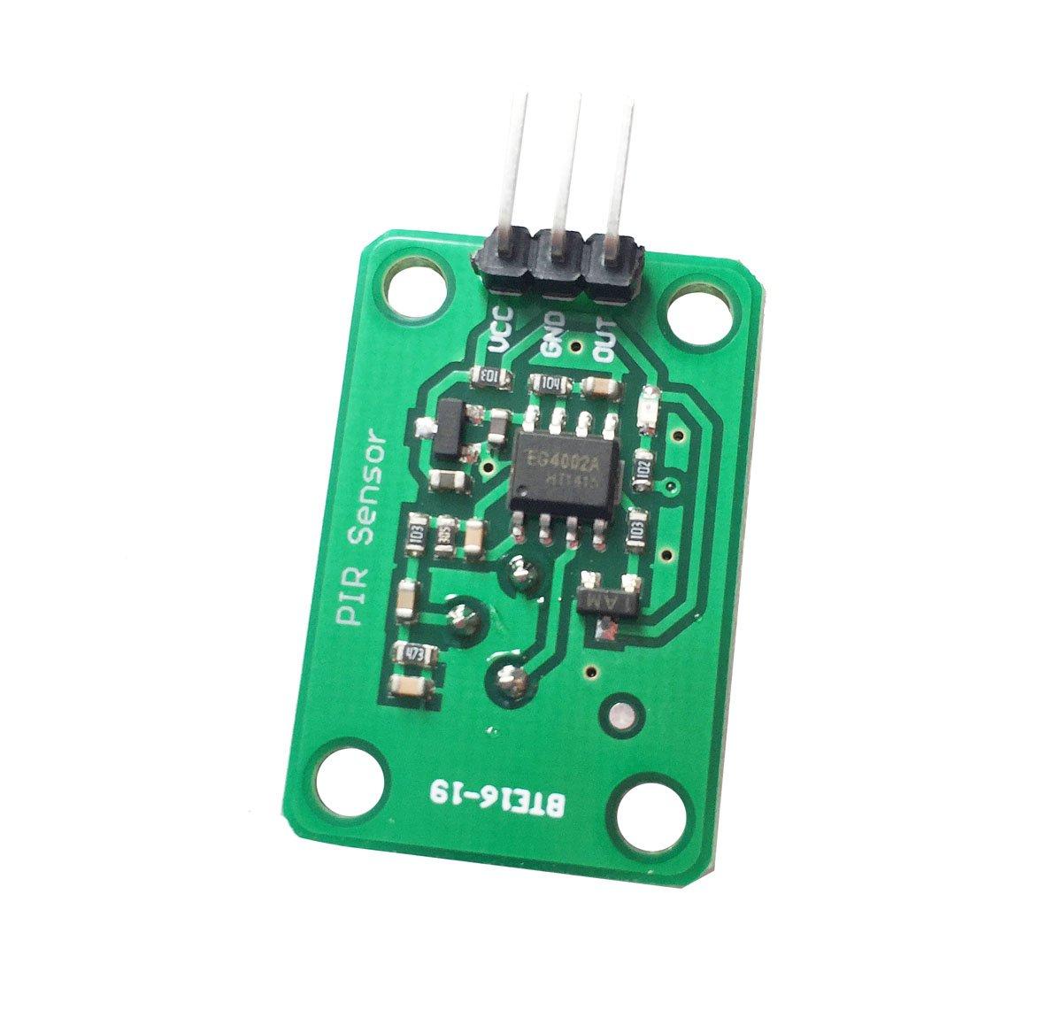 DollaTek 2PCS Detector infrarrojo piroeléctrico Cuerpo Humano Que detecta el módulo del Sensor de Movimiento de PIR para la Lente óptica Negra de Arduino ...