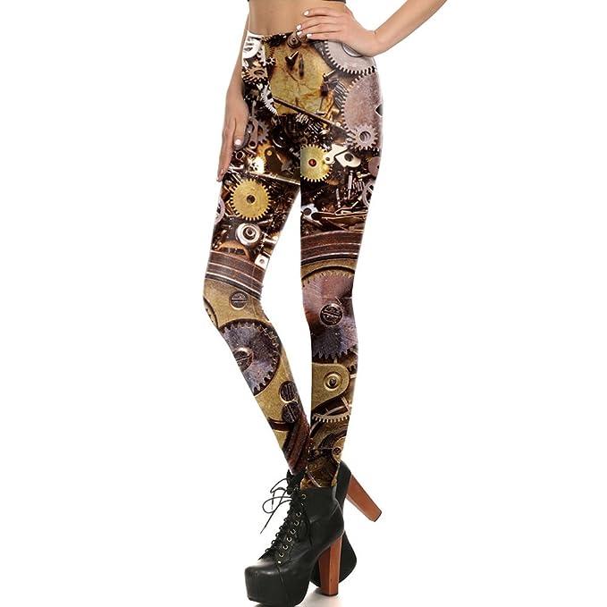 8b2fa0fde0fe6 Dig dog bone Women Leggings 3D Printed Halloween Mechanical Parts Sexy  Mysterious Leggins Yoga Pant Tights
