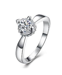 Anillo de compromiso, elegante, ajustable a la moda, anillo romántico para hombres y mujeres, anillo de regalo de boda