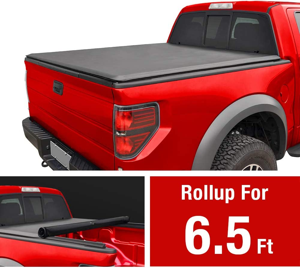 MAXMATE Soft Roll Up Truck Bed Tonneau Cover for 2007-2013 Toyota Tundra