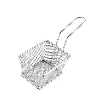 Fornateu Patatas Fritas pequeñas Cesta Mini Canasta freidora freidora colador de Cocina Cooking Chef Basket Accesorios