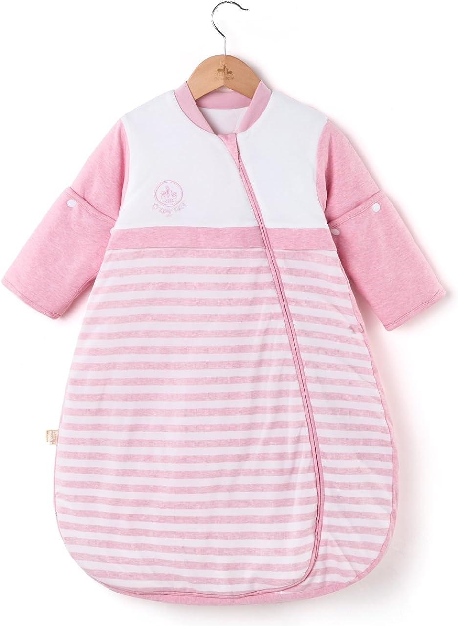 OuYun Baby Organic Sleeping Bag Detachable Sleeve Wearable Blanket Spring/&Autumn