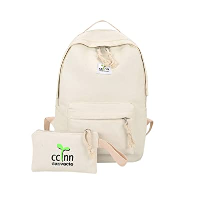info pour 68ee4 b3fb5 KEYIA Rucksack éPaule Bookbags éCole Sac Cartable Toile ...