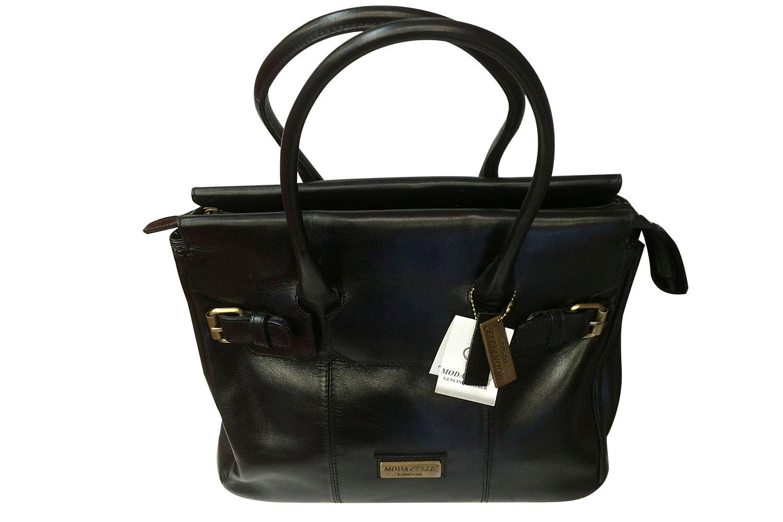 Real Leather Ladies Handbag style 2758 Black