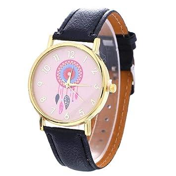 Zedo Relojes Mujer Reloj Pulsera Mujer Relojes de Mujer Reloj señora Reloj de Mujer Reloj Mujer Reloj Chica Reloj analogico Patrón atrapasueños Negro: ...