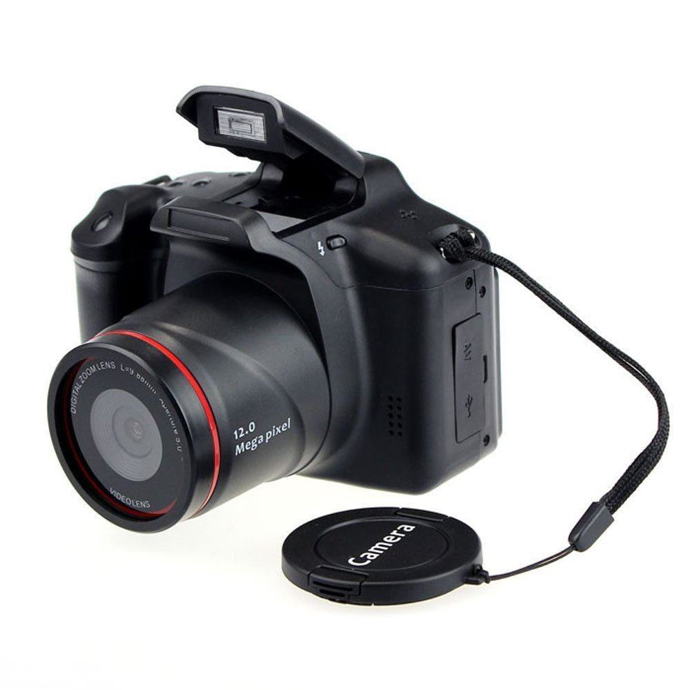 Digital Video SLR Camera with 4X Digital Zoom and 2.8 Inch LCD Screen (HD 720P 12MP)