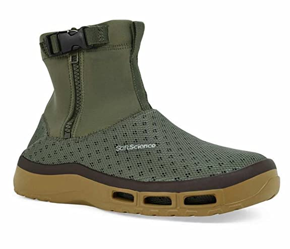 SoftScience The Fin Boot Men's Boating/Fishing Boots - Sage, Size 8