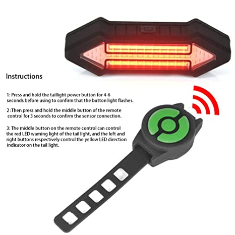 Remote Control Bicycle Direction Lamp Bicycle Bike Light Warning Indicator light