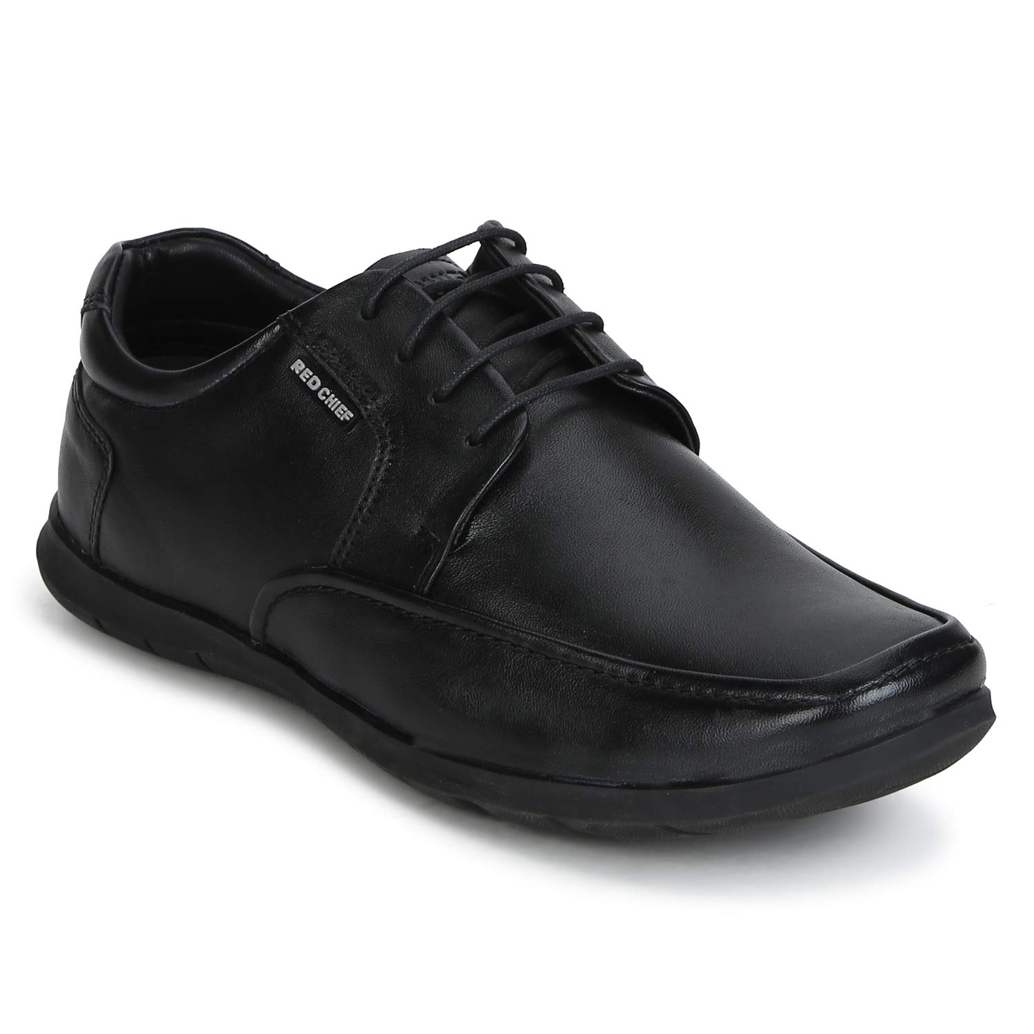 Red Chief Black Derby Leather Formal