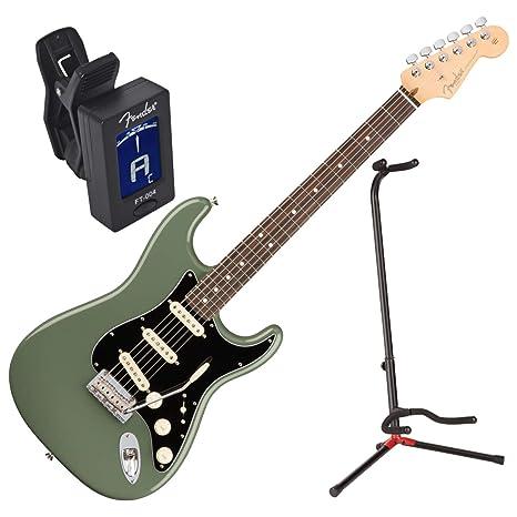 Fender American Pro Strat guitarra eléctrica RW ATO W/funda, soporte, y sintonizador