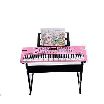 Amazon.es: DUWEN Teclado para Niños Principiante Juguetes educativos multifuncionales LED con micrófono 61 Bandeja Clave + Auriculares + Cubierta del Piano ...