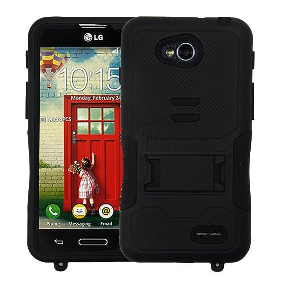 low priced 2bef9 d51f2 Amazon.com: LG L90 Case, LG Optimus L90 Stand Case, Kuteck Black LG ...