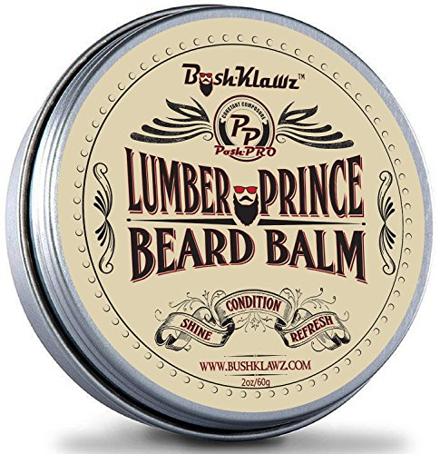 Lumber Prince Beard Balm Leave in Conditioner Beard Butter Premium Refreshing Manly Woodsy Musk Scent 2 oz - Christmas Holiday Bearded Man Special Gift Deal Sale for Men Woodsy Christmas