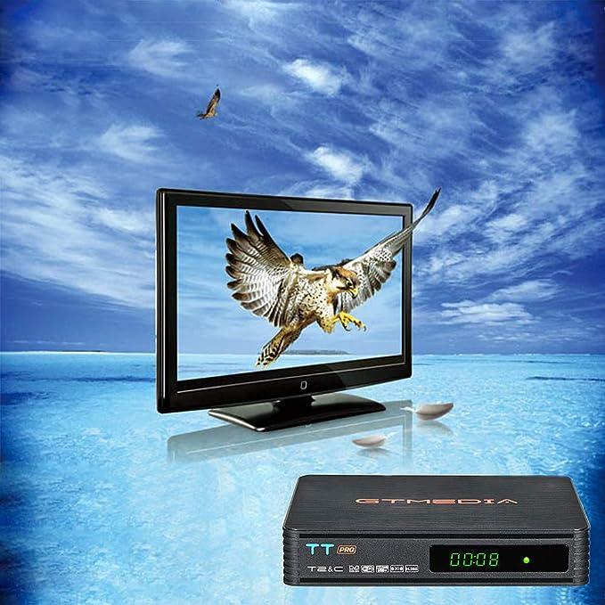 GT MEDIA TT Pro Decodificador TDT HD Terrestre Receptor de Cable TV Digital DVB-T/T2 DVB-C con Antena WiFi USB 1080P Full HD MPEG-2/4 H.265 HEVC Soporte PVR CCcam Newcam Youtube: Amazon.es: Electrónica