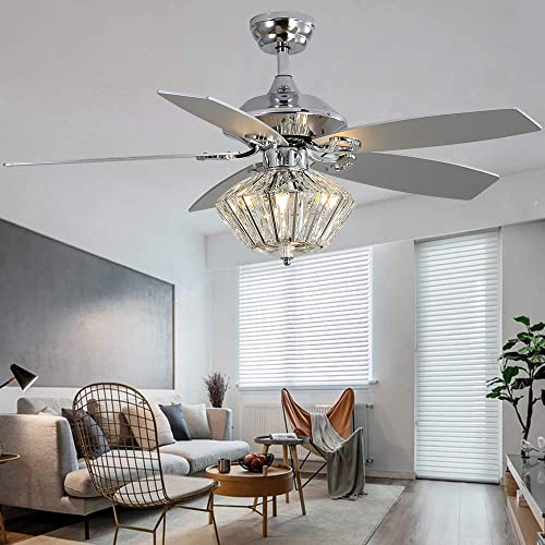 52 Crystal Ceiling Fan