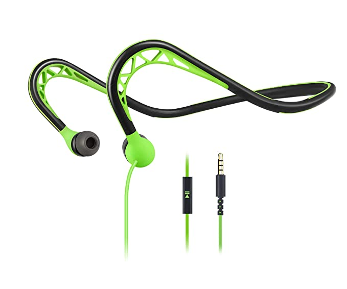 Mucro- Auriculares Deportivos con Cable con micrófono, Auriculares ...