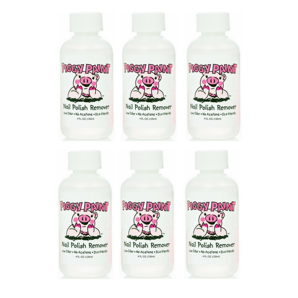 Amazon.com : Piggy Paint Nail Polish Remover, 4 Fluid Ounce (2 Pack ...