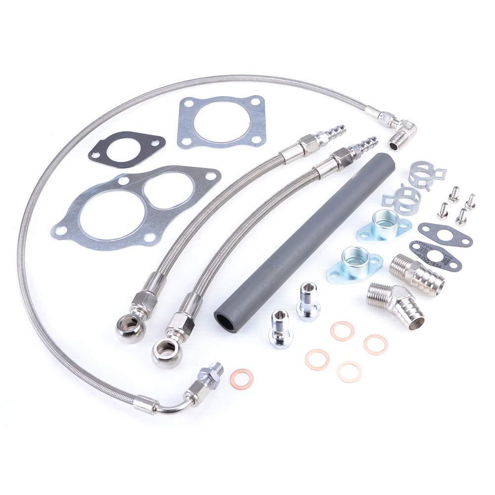 Kinugawa Turbo Install Kit w//MHI TD05H 14B 16G 18G 20G For 4G63T DSM 1G 2G Eclipse