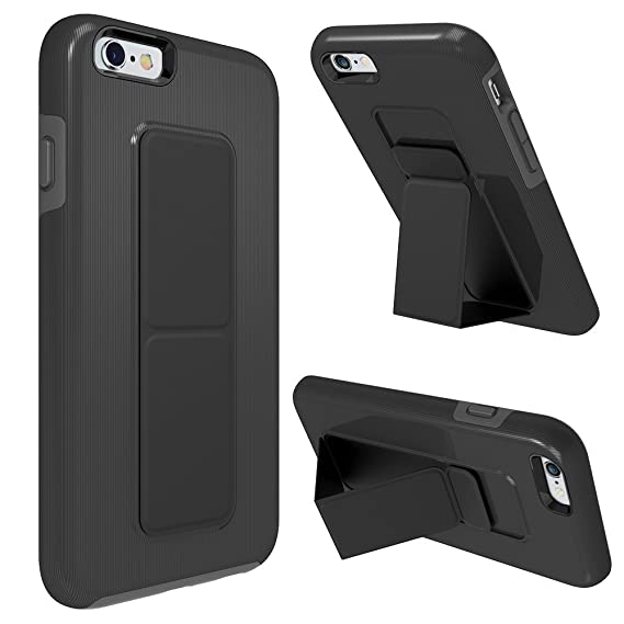 low priced 662f4 35ef1 iPhone 6S Case, iPhone 6 Case, ZVEdeng Vertical and Horizontal Stand Hand  Strap Reinforced Magnetic Kickstand Dual Layer Heavy Duty Shockproof Case  ...