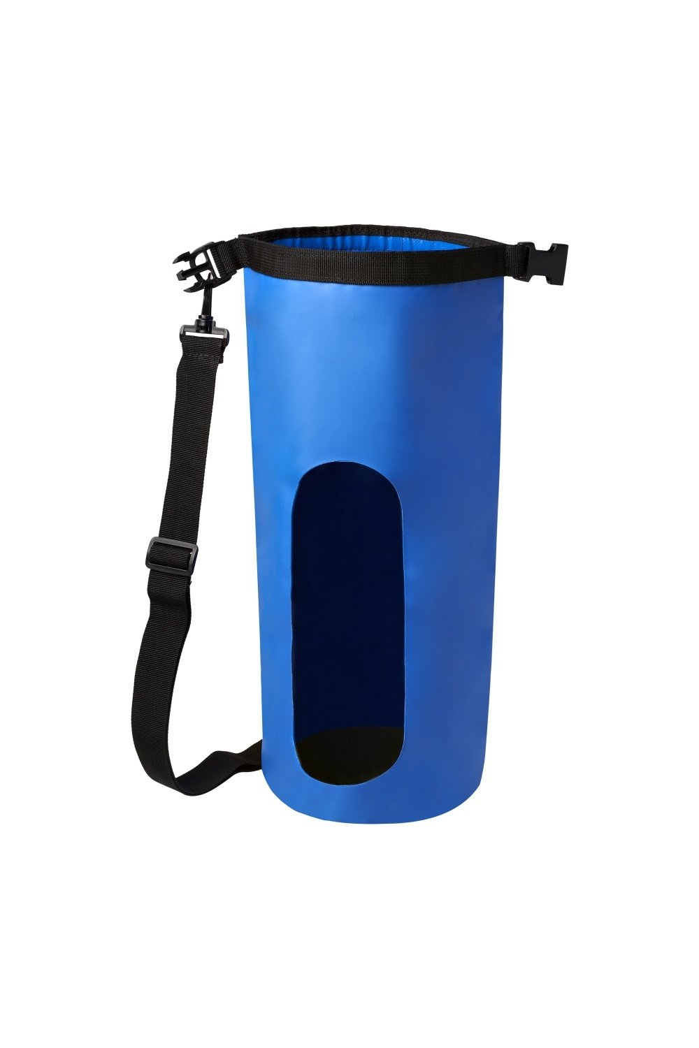 nod Waterproof 10 Liter Blue Dry Bag With Adjustable Strap and Snap Buckle and Heavy Duty Vinyl