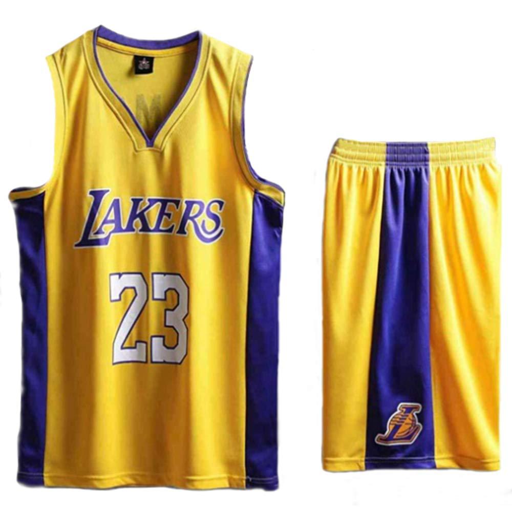 Lakers N/º 4 Caruso Ventilador Camiseta De Baloncesto Sin Mangas Verano Y Oto/ño De Los Jerseys SHR-GCHAO Uniformes De Baloncesto 170~175cm Edici/ón Cl/ásica Conveniente para Los Deportes,S