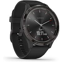 Garmin vívomove 3, Hybrid Smartwatch with Real Watch Hands and Hidden Touchscreen Display, Black