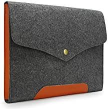 """Lavievert Latest Designed Gray Felt Case Bag Sleeve for Apple 13"""" MacBook Air / 13"""" MacBook Pro / 13"""" MacBook Pro with Retina and Most Popular 13-13.3 Inch Laptop / Notebook Computer / Ultrabooks (Gray)"""