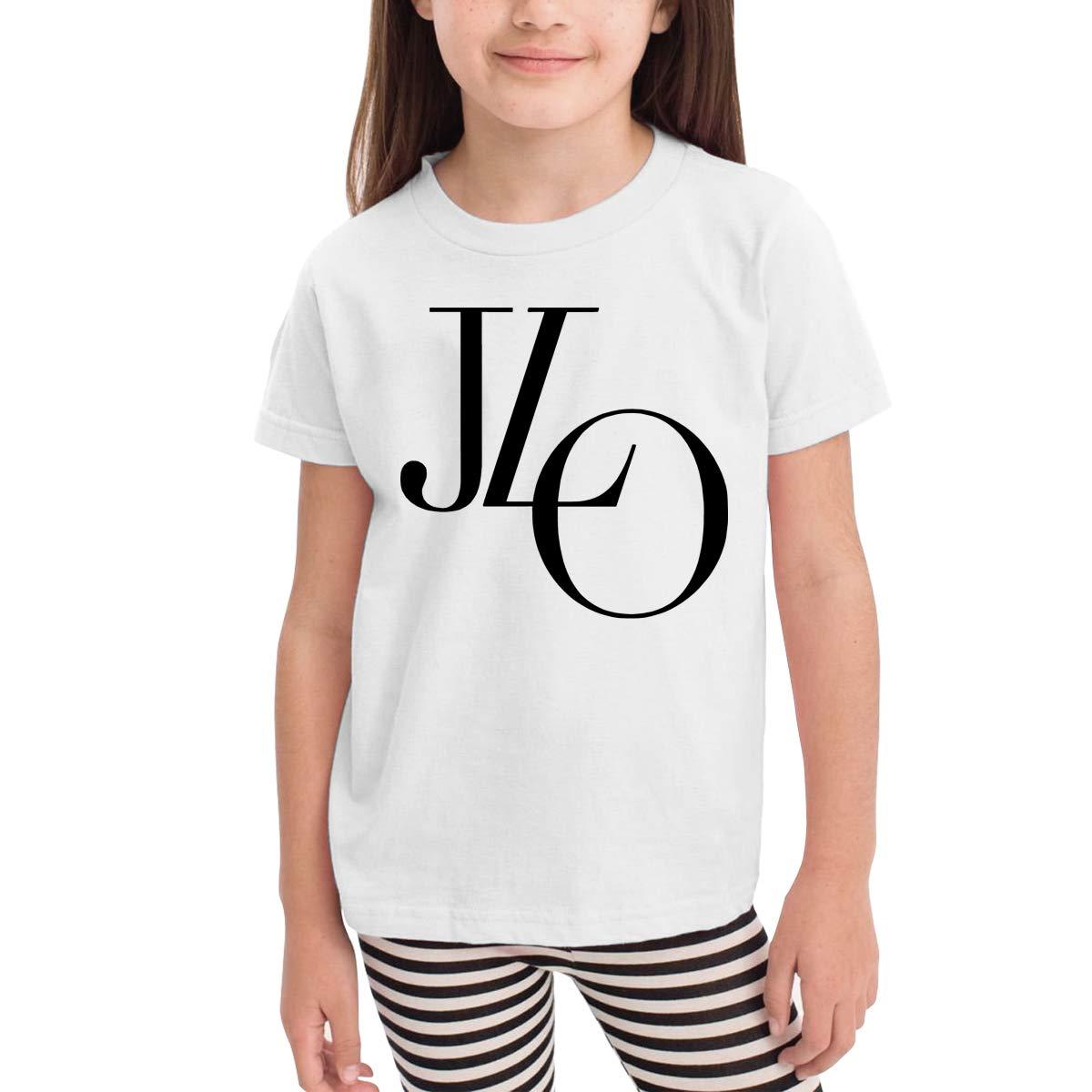 WYeter Jennifer Lopez Toddler Funny Short Sleeve Tee White